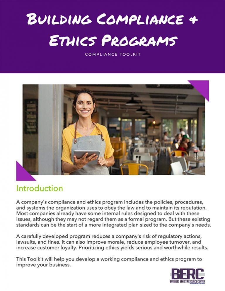 Building Compliance & Ethics Programs