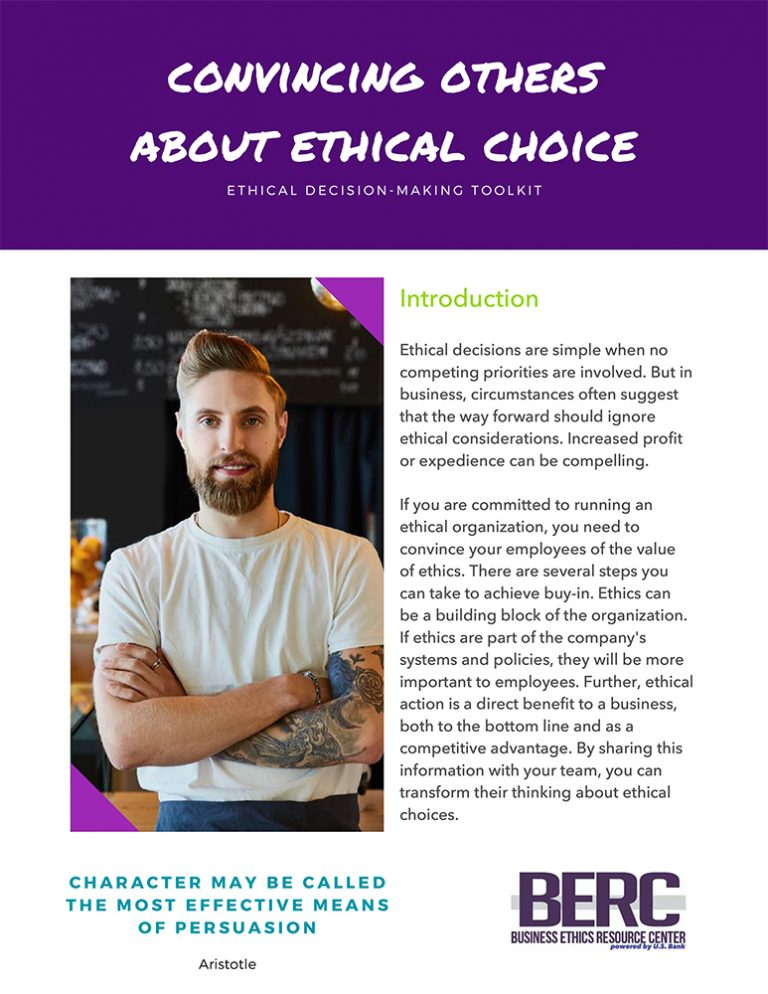 Convincing Others about Ethical Choice
