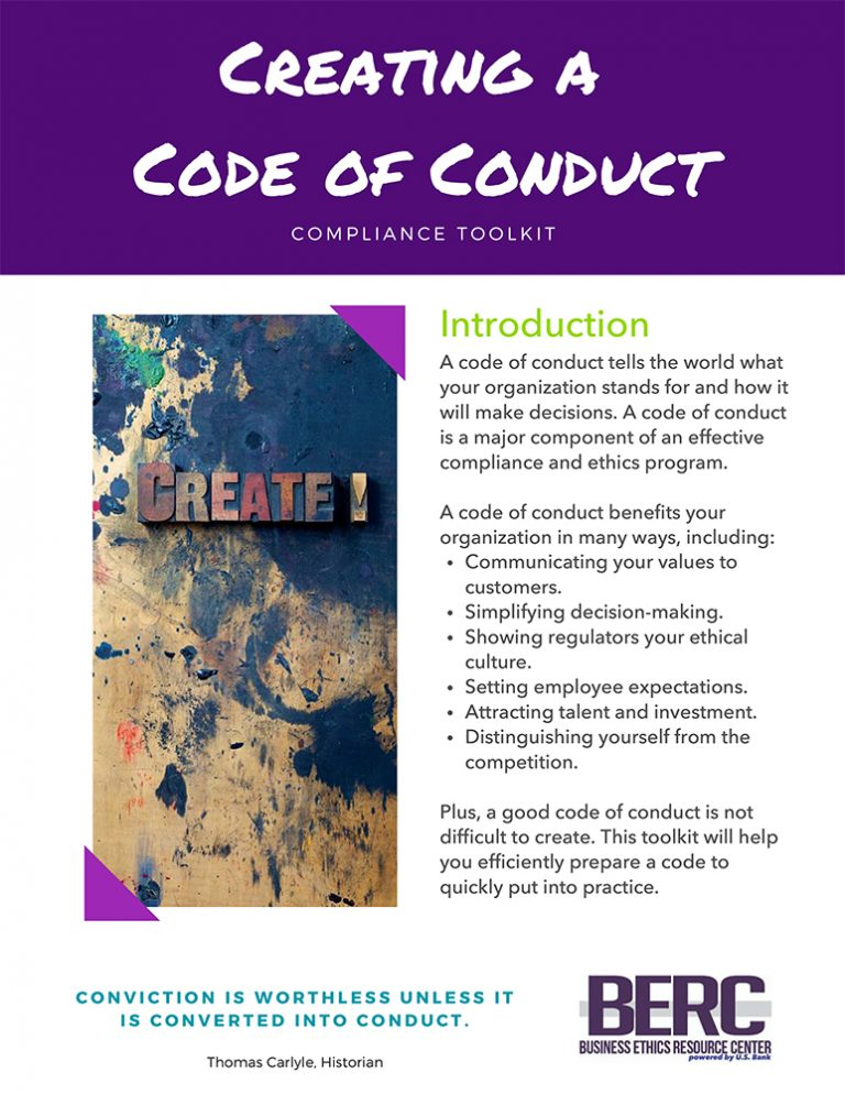 Creating a Code of Conduct