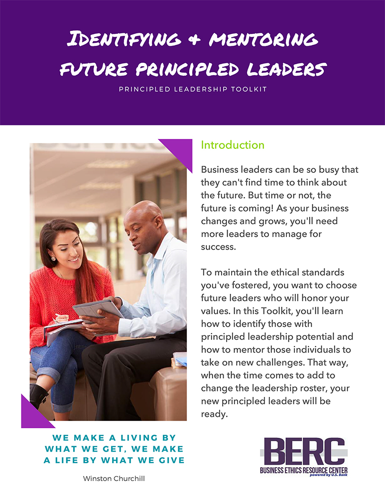 Identifying and mentoring future principled leaders